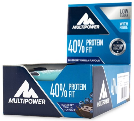 Multipower 40% Protein Fit Bar, Kosttilskud - Multipower