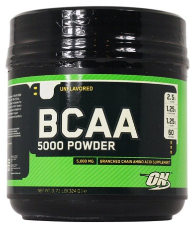 BCAA 5000 Powder, Kosttilskud - Optimum Nutrition