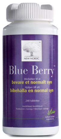 Blue Berry Plus, Helse - New Nordic