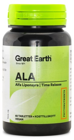 Great Earth Alpha Lipoic Acid 300mg, Kosttilskud - Great Earth