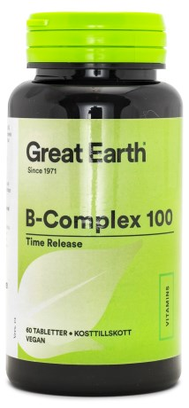 Great Earth B-Complex 100 mg, Helse - Great Earth