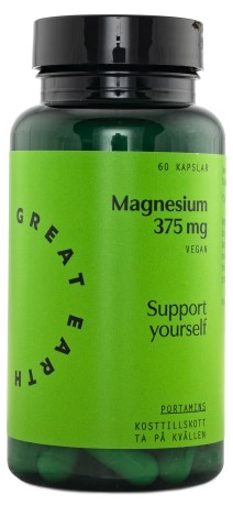 Great Earth Super Magnesium 375 mg, Kosttilskud - Great Earth