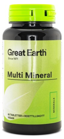 Great Earth Multi Mineral, Kosttilskud - Great Earth