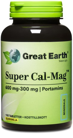 Great Earth Super Cal-Mag Tabletter, Kosttilskud - Great Earth