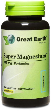Great Earth Super Magnesium, Kosttilskud - Great Earth