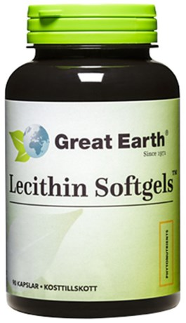 Great Earth Lecithin Softgels 1200 mg, Helse - Great Earth