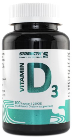 Strength D-Vitamin, Kosttilskud - Strength