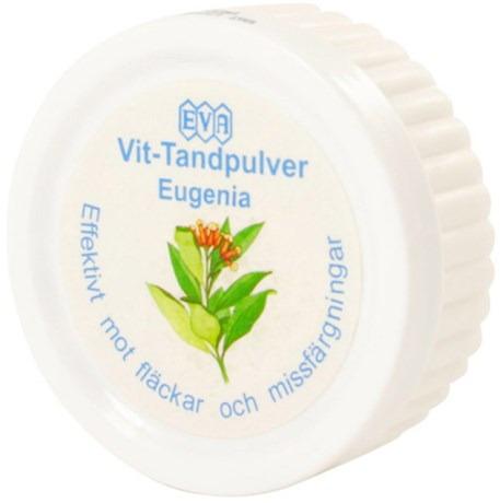 Vit-Tandpulver Eugenia, Helse - Speed Import