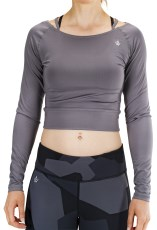 Workout Empire Cropped Longsleeve V-Back Top