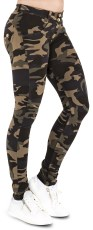 WR.UP Skinny Fit Regular Waist Camo