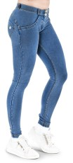WR.UP Super Skinny Denim Effect Regular Waist