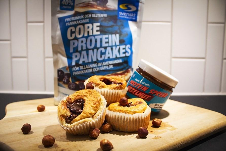 Bild på muffins gjorda på Core Protein Pancakes.